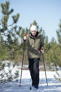 Cross Country Skiing in the miles of back country